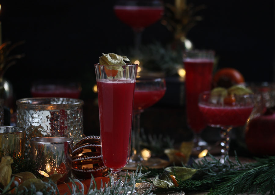ruby pomegranate spritz