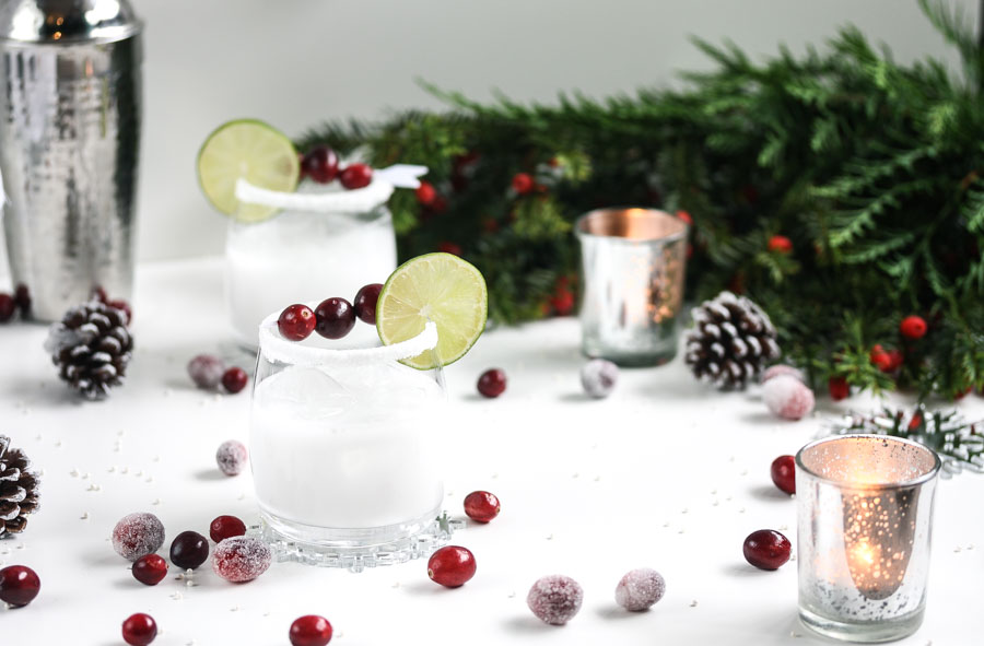 white christmas coconut margaritas